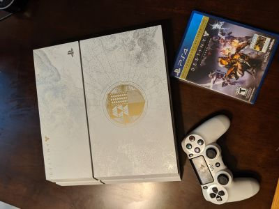 PlayStation 4 Destiny Legendary Edition Bundle with Game and White Controller