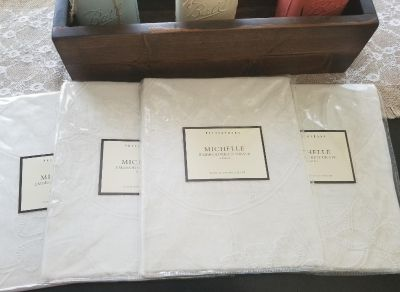 New Pottery Barn Embrodered Drapes