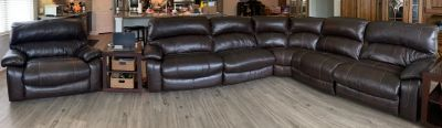 Sectional sofa & oversize recliner POMs