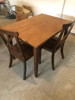Small Dining Table with 2 Chairs