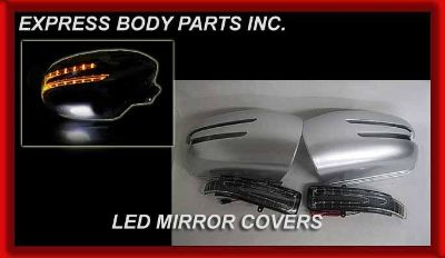 Find MERCEDES W211 E-CLASS SILVER MIRROR COVERS LED 2003 2004 2005 2006 E320 E500 E55 motorcycle in North Hollywood, California, US, for US $124.99