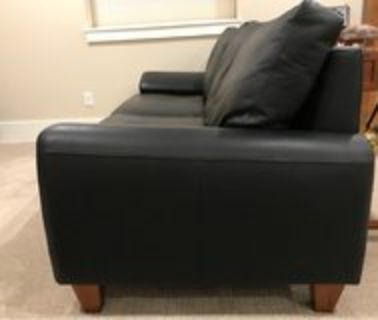 leather chair and sofa