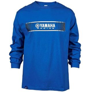 Purchase YAMAHA LARGE BLUE MENS TRACKS SPEED BLOCK LONG SLEEVE TEE CRP-16LYR-BL-LG motorcycle in Maumee, Ohio, United States, for US $26.99