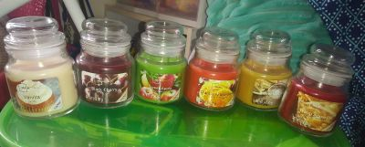 Six new scented candles