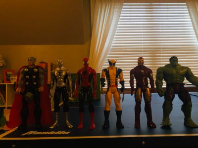 12inch action figures like new-porch pick up near Planet Fitness
