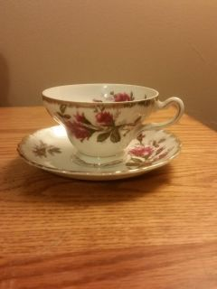 Napco Japan hand painted china tea cup and sauce