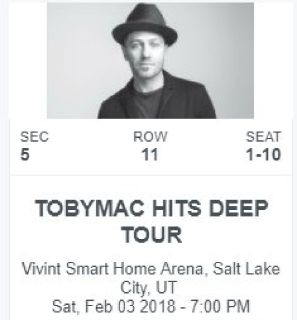 Toby Mac Hits Deep Tour Tickets