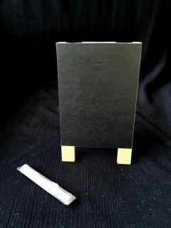 4 inch chalkboard easel with chalk.