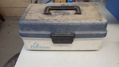 Used Fishing tackle box