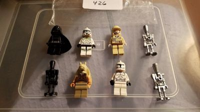 8 Lego Star Wars Minifigs Group 426
