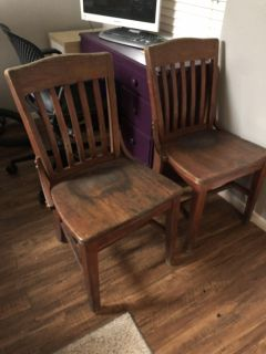wood chairs - price is for all