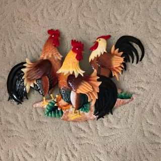 Metal Rooster Decor 24 x 15