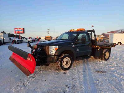 2011 Ford F-450 Super Duty Dumping Flatbed
