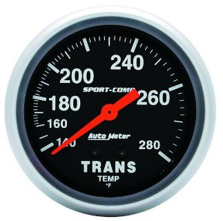 "Buy Auto Meter 3451 Sport Comp 2 5/8"" Mechanical Transmission Temp. Gauge 140-280 F motorcycle in Greenville, Wisconsin, US, for US $104.99"