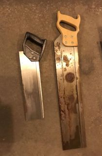 Hand saws from manual miterbox