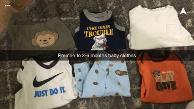 Premee to 3-6 month baby clothing
