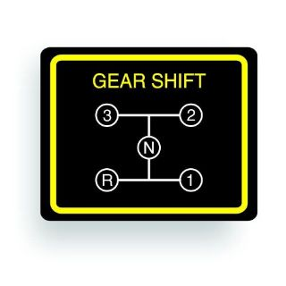 Buy TRANSMISSION SHIFT PATTERN decal fits WHEEL HORSE 3 speed tractor AR045 motorcycle in Mentor, Ohio, United States, for US $9.98