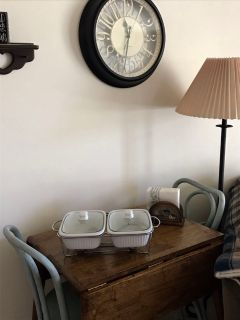 Double Casserole Dish in Stand