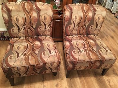 Pier One Set of 2 Comfortable Upholstered Chairs