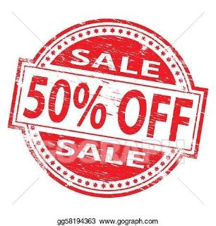 Everything is 50% off. EVERY ITEM I HAVE LISTED. Sale ends next Monday.