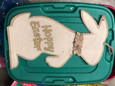 Hoppy Easter Burlap & Felt Door hanger