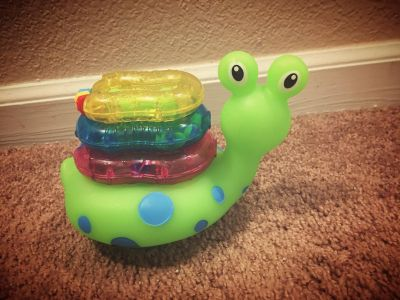 Snail rattle/ring baby toy