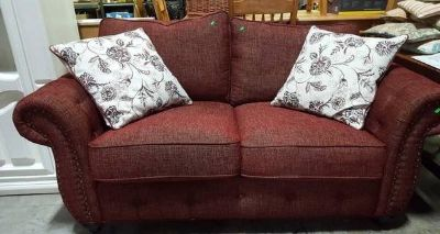 Beautiful Magnussen Home Burgundy Heather Tweed Sofa / Couch - Deliver