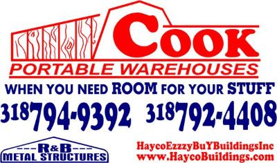 HaycoEZZZyBuYBuildings Cook Portable Warehouse RB Metal Structures (Alexandria, Louisiana)