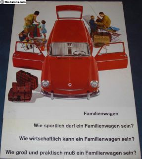 1964 8 Page Type 3/III Sales Brochure German B