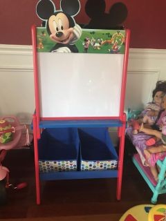 Mickey Mouse easel with storage