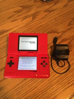 Nintendo ds system with charger