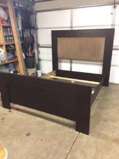 Queen head & foot board with side rails