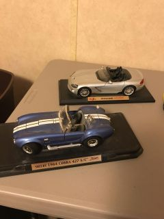 Two Maistro die cast cars. Very dusty from Storage. Great for play or collection