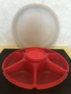 Tupperware Fruit/Veggie Serving Tray w/Cover