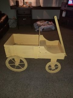 Wood wagon! Great project to paint..for dolls..etc