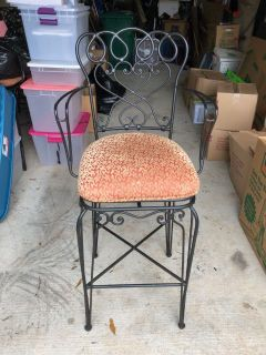5 Ballard Designs 32 swivel seat bar stools. Very heavy well made easy removal of seat for recovering. Excellent condition! Asking $15 each