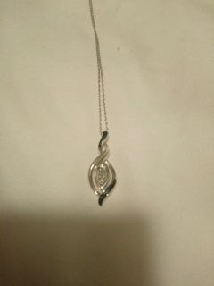 Kay sterling silver w/blue gems necklace