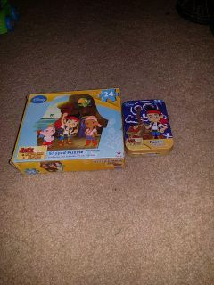 2 Jake and the Neverland pirates puzzles. Have all the pieces