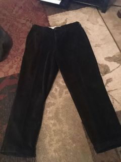 Daniel Cremeiux 38x32 black corduroy pants - ppu (near old chemstrand & 29) or PU @ the Marcus Pointe Thrift Store (on W st)