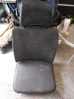 Late Bay VW Bus Front Seat Black
