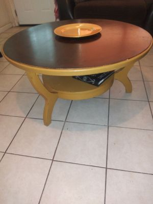 Vintage heavy solid wood coffee table pick up in Sachse