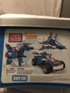 Mega blocks idea builders block set. 201 pieces! Brand new sealed! Comes in storage container!