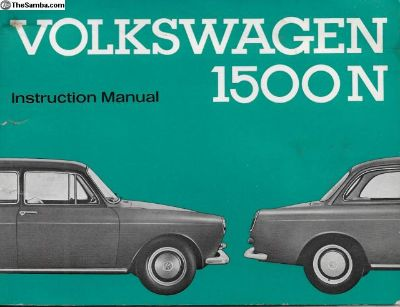 1964 Type 3 1500N Instruction Manual