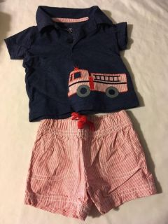 Fire truck outfit