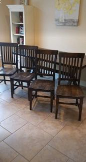 Solid wood table and four chairs - Pier 1