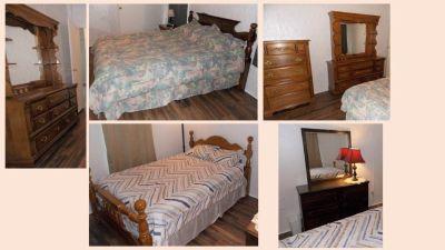 2 Queen beds and dresser sets