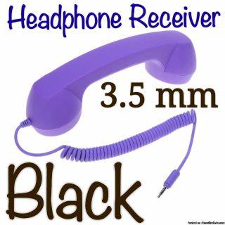 Black Retro Phone Handset Old Fashioned Style Minimizes Radiation Damage to Head, Neck & Brain!