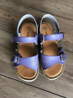EUC SFH Cat and Jack size 11 girls sandals with leather straps- cute and comfy!