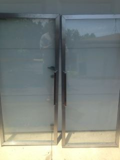 Stainless Steel Thermopane Doors - from a reach in freezer\cooler