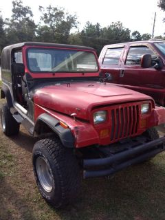 Jeep YJ Hood, fenders, grill, windscreen frame (all RED)